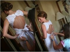 Lace wedding dress  http://www.elizabethannedesigns.com/blog/