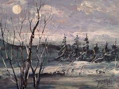 Moonlight Serenade acrylic art original painti  Jim Smeltz w/ ACEO  #Impressionism