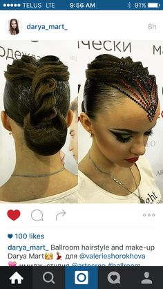 Ballroom competition hair #myballroomboutique