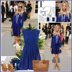 {Blue outfit}, created by lilyell on Polyvore