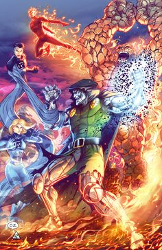 Fantastic Four vs Dr Doom by Omar Zaldivar & Hedwin Zaldivar