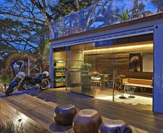 """Welcome to probably one of the most jaw-dropping tiny shipping container homes I have ever seen! The """"Pocket House"""" is a 320 square feet container home. Container Home Designs, Sea Container Homes, Container Cabin, Shipping Container Homes, Container Architecture, Open Architecture, Steel Building Homes, Metal Building Kits, Building A House"""