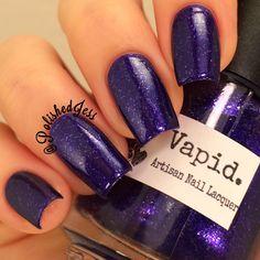 Vapid Lacquer Violet Loves Snowflakes