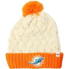 online store ae14a 65135  47 Brand Miami Dolphins Ladies Matterhorn Cuffed Beanie - Natural Orange