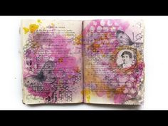 Art Basics - Soft Gel - resist effect on journal page - YouTube
