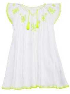 SUNUVA Strand Kleid Neon Größe: 5-6J Farbe: weiß, € 29,95