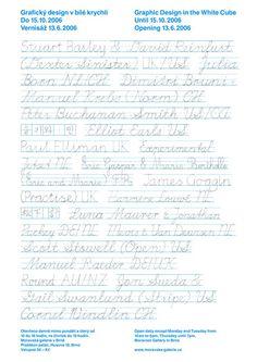GRAPHIC DESIGN IN THE WHITE CUBE / Julia Born