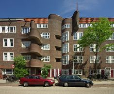 M. Staal-Kropholler, Holendrechtstraat/Amstelkade, Amsterdam 1921-1923 Amsterdamse School