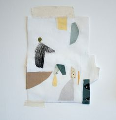 Collage of painted shapes by Olya Leontieva on Flickr.