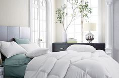 Our Goose Down Comforter featured in Decorate Your Bedroom For Winter via Seattle Refined