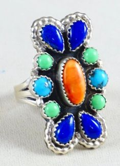 Trending Handmade Jewelry Red Crackle Quartz Sterling Silver Overlay Ring Size 8 US