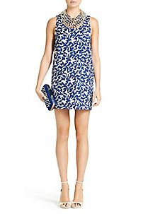 Noralie Dress in Geo Marks Navy, Diane von Fürstenberg