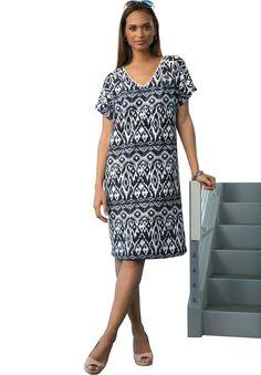 Ikat Print Dress   Plus Size The Getaway Collection   Jessica London