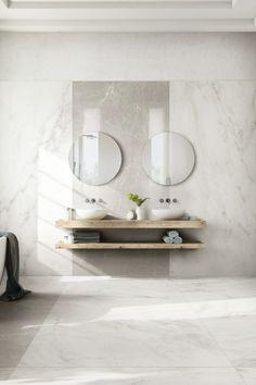 Con lastre in gres porcellanato ispirate a marmo e pietre, Exalt è capace di soddisfare i diversi stili abitativi.