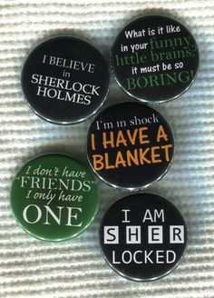 1.25 BBC Sherlock quote Pinback Button by TinyAltoButtons on Etsy, $1.50