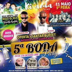 AMANHÃ é dia de 5ª da BODA no KIANDA!! Entrada à Borla Jantar à Borla Muita boa musica e dança à borla AULA SEMANAL à Borla com os teus profs MaC & Nia - KIZOMBA POWER às 22h... E ainda o show da turma do Luis Moreira e da Catarina Monteiro! O que mais podes pedir da tua Quinta da BODA? :) #kizomba #kizombapower @nia_kizombapower @manuaurindo #kianda @deejay_emanuelson @kiandaprime @djrams_pro @vanessalagarto @fidnel @paulodaniel.santos @deejay_emanuelson @louismorrisss @catarina_c_monteiro