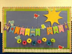 Back to School Decoration Ideas . 30 Fresh Back to School Decoration Ideas . Spring theme Wel E Back to School Bulletin Boards Ideas Summer Bulletin Boards, Back To School Bulletin Boards, Preschool Bulletin Boards, Classroom Bulletin Boards, Preschool Classroom, Classroom Decor, Preschool Welcome Board, Preschool Library, Classroom Displays