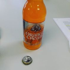 Gregg lives me and brought me an orange cream soda at work today.