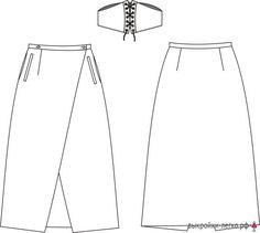 Faldas abrigo Patrón | Patrones en línea y clases de modelado