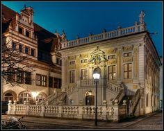 Leipzig alte Burse (Altes Rathaus im Hintergrund)