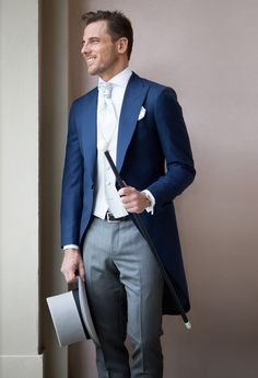 Image result for blue morning suit