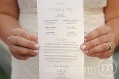 Elegant Wedding Programs - Single-Sided, Flat Programs - Affordable Wedding Programs - Simple Wedding Programs (Set of 50). $112.50, via Etsy.