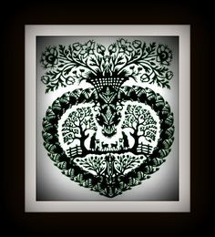 Handmade PaperCut Silhouettes Papercutting - Love Heart