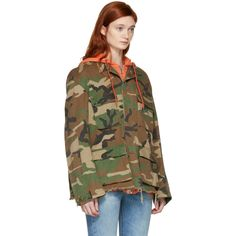 fac95713e215c Off-White Green Camo Field Jacket (15 035 ZAR) ❤ liked on ...