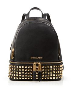 Michael Kors  Small Rhea Studded Backpack is perfect for storing your  railway tickets!   fc61fbf6df28d