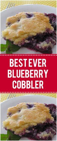 Blueberry desserts recipes - Best Ever Blueberry Cobbler Quick Family Recipes Easy Blueberry Cobbler, Blueberry Cobbler Recipes, Easy Blueberry Desserts, Blueberry Cheesecake, Quick Family Meals, Family Recipes, Blueberry Cobler, Delicious Desserts, Dessert Recipes