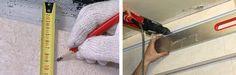 Как выполнить монтаж реечного потолка в ванной, своими руками (инструкция) https://dom-s-ymom.org/stroitelstvo/konstruktivnye-resheniya/potolok/podvesnoj/reechnyj/montazh-v-vannoj-svoimi-rukami-instruktsiya.html  Все работы по обустройству потолка в ванной проводятся в последнюю очередь. В ванной комнате хорошим решением будет установка реечного потолка. Перед монтажом рисуют схему комнаты, отмечают где будут светильники и рассчитывают необходимое количество пристенного уголка, несущей шины…