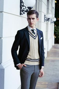 Matching Suggestions of Men's Sweater Vests#Mens sweater vest#mens shirts
