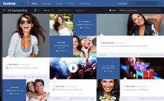 Facebook Prototype - Conceptional Approach by Fred Nerby. A conceptional and systematic design approach for a new responsive desktop and iPad concept for Facebook.