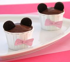 Minnie Mouse Pudding Cups
