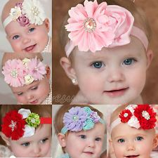 6pcs Kids Girls Baby Toddler Infant Flower Elastic Headband Hair Band Headwear