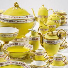 An assembled Sèvres yellow-ground part dinner and dessert service<br>circa 1803-4 | lot | Sotheby's