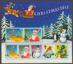 chrisstmas miniatures | 2012 ms3422 christmas miniature sheet 2012 christmas miniature sheet ...