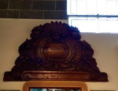 Hand Carved Head Board Architectural On Sale   San Mianol de Allende, Mexico   Was $675 Sale Price $500  Dealer #1127  Lost. . .Antiques 1201 N. Riverfront Blvd. Dallas, TX 75207  Monday