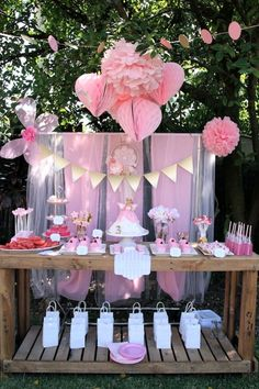 Pink Fairy Themed Birthday Party Full of Really Cute Ideas via Kara's Party Ideas KarasPartyIdeas.com #fairies #fairyparty #girlparty #fairy...