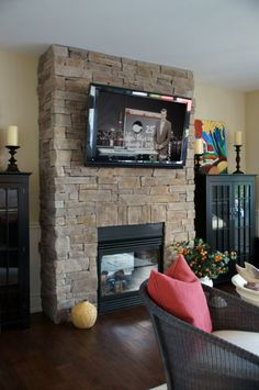 Welcome to StoneRox - - a superior, manufactured stone veneer. Our products are designed for both residential & commercial properties. Fireplace Gallery, Manufactured Stone Veneer, Fireplaces, Interior And Exterior, Family Room, Design, Home Decor, Fireplace Set, Fire Places