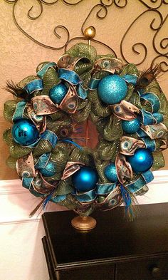 Peacock Wreath different color ribbon though....