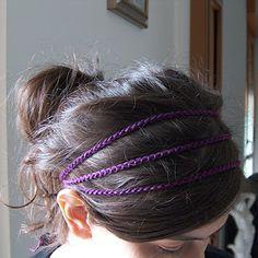 crocheted headband for me
