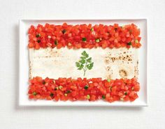 Lebanese food flag