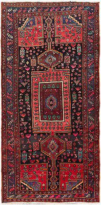 "SHIPS CANADA ONLY-Hand-knotted Persian 4'7"" x 9'2"" Koliai Red Wool Rug"