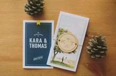 Our wedding invitations! wood invite tag \ Canadian Backyard Wedding invitation design \ From Green Wedding Shoes