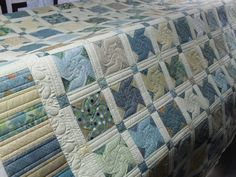 Twin Sisters...Charlotte Severson and quilted by Jessica Gamez.....Love the muted color palette