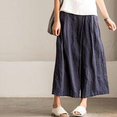 Korean Style Casual Trousers Linen Pants K2165A