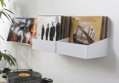Vinyl record shelf / wall-mounted / contemporary / steel TEENYLE : SET OF 2 TEEbooks
