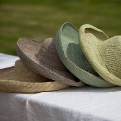 Olive: Hand-made (crochet) raffia sun hats from Hen & Hammock - light green Crochet Clothes, Crochet Hats, Straw Hats, Fedora Hats, Green Hats, Market Bag, Summer Hats, Sun Hats, Color Mixing