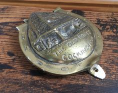Vintage Large brass Door Knocker The Old Forge Cockington Elpec Horseshoe Good…